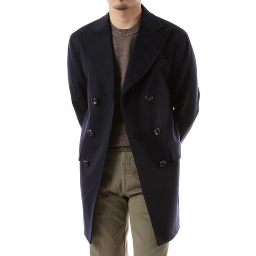 Navy Double Delicate Pea Coat