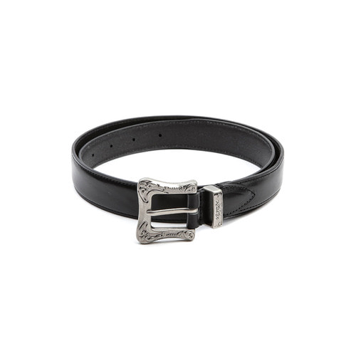 Black Single Leather Belt