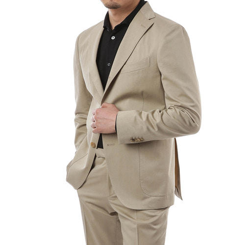 Beige Single Roll Suit