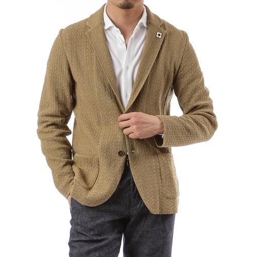 Olive Single Diamond Knit Jacket