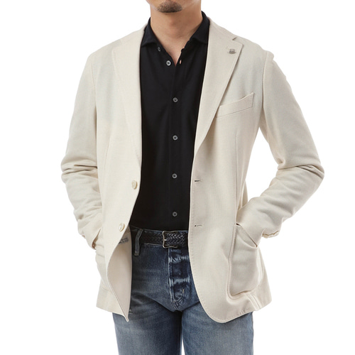 White Wool Tweed Formal Jacket