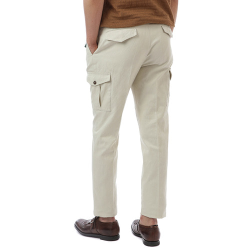 BOMBAY Gentleman Fit Linen Pants (Ivory)