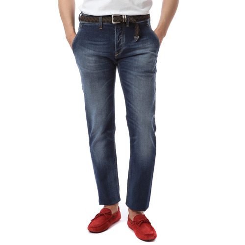 Side Pocket Core Denim (Dark Blue)
