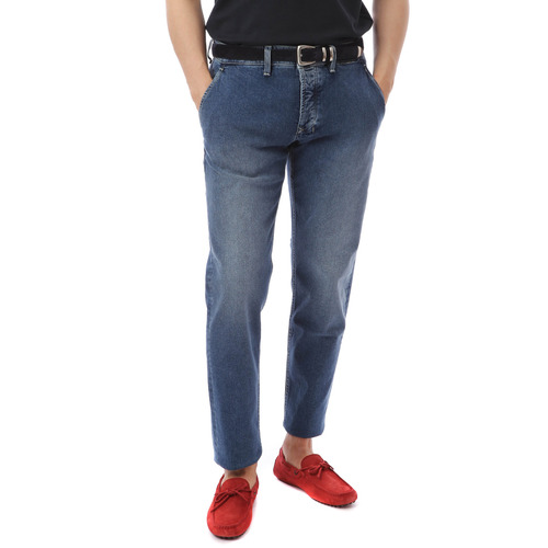 Side Pocket Core Denim (Medium Blue)