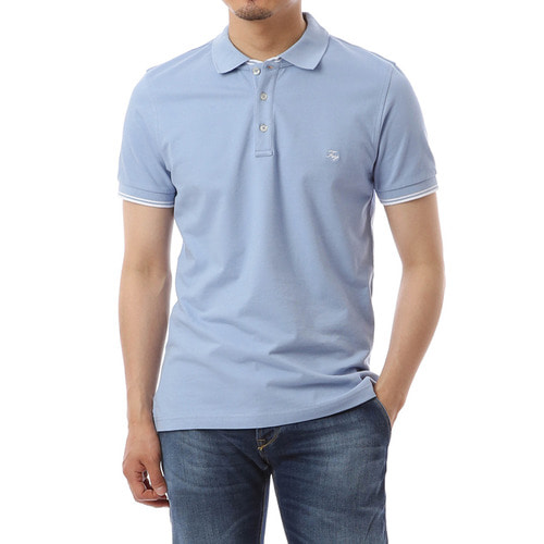Merito Single SkyBlue Pique Shirts
