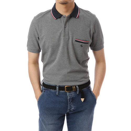 Liberta Pocket Gray Pique Shirts