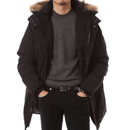 Gormley Black Fancy Parka