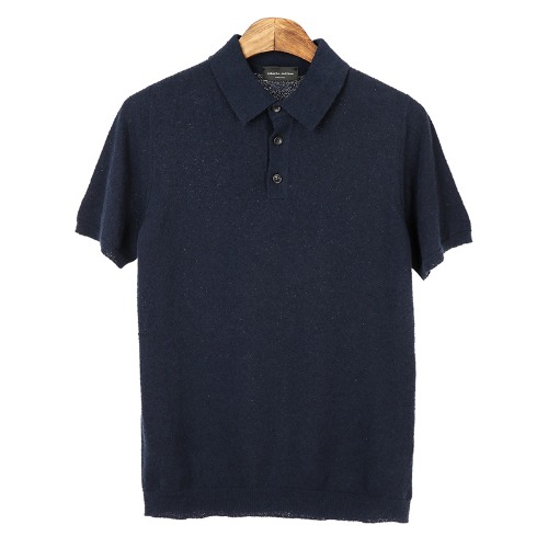 Terry Navy Short Pique Shirts