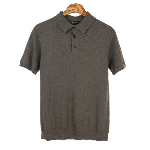 Terry Taupe Short Pique Shirts
