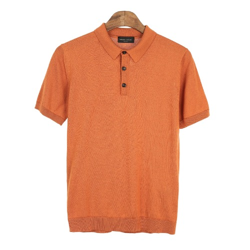 RADIANT. Orange Pique Shirts