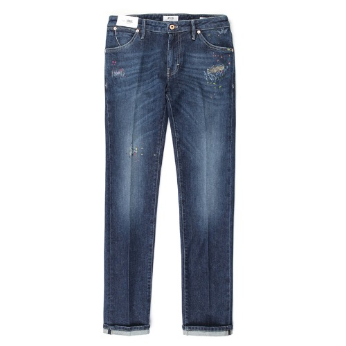Soul Slim Fit Destroyed Spot (Dark Blue)