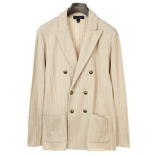 Beige Double Sensual Knit Jacket