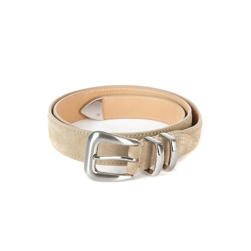 Silver Stuck-up Beige Suede Belt