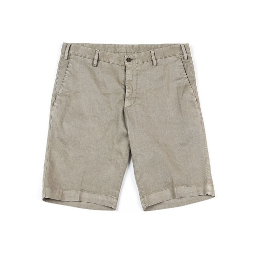 LAB. Simple Linen Dark Beige Shorts