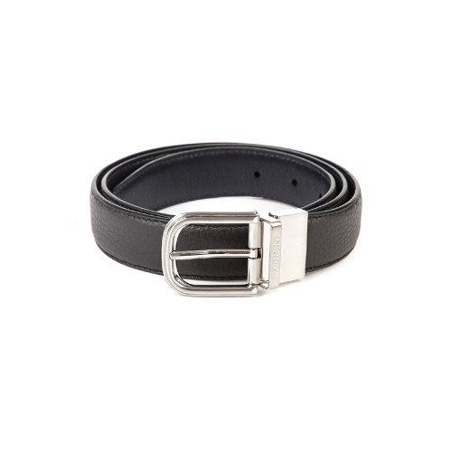 Silver Lettering Soft Leather Brown Belt