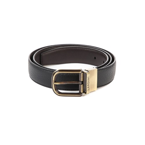 Soft Leather Slim Black Belt
