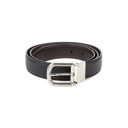 Silver Lettering Soft Leather Black Belt