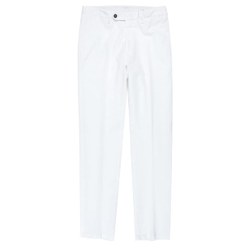 Covered Double Button Cotton White Pants