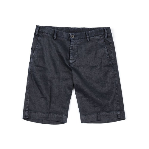 LAB. Simple Linen Navy Shorts