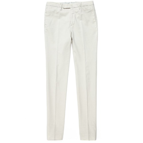 Looping. Pattern85.Tight Fit ICE Cotton Pants(Light Beige)
