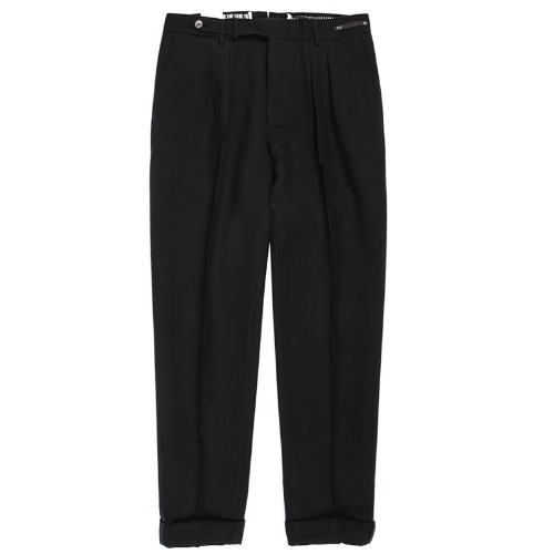 Carrot Fit. SuperFine Belt-up Pants(Black)