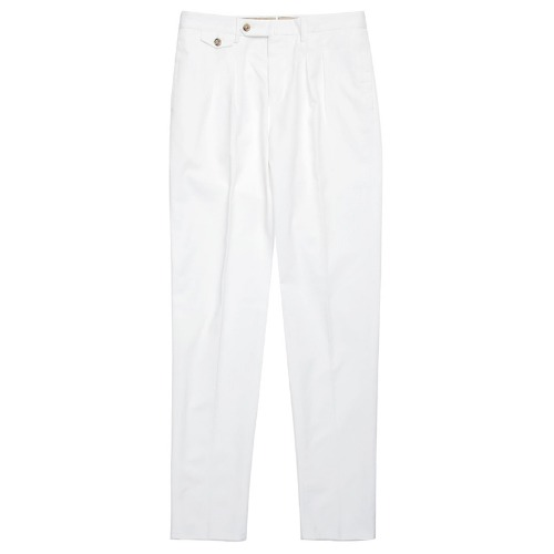 Carrot Fit. The Draper Pants(White)