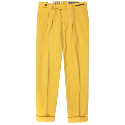 Carrot Fit. SuperFine Belt-up Pants(Yellow)