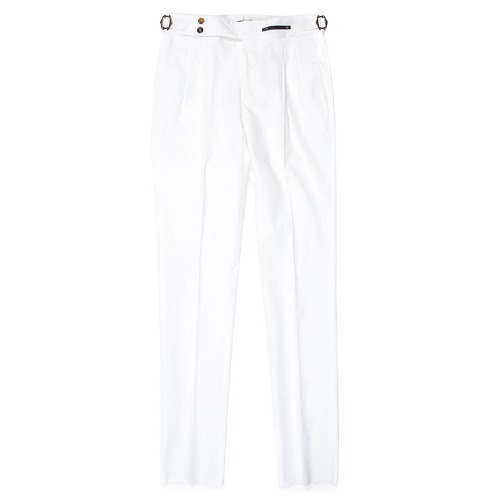 Gentleman Fit. SuperFine Two Pleats Pants(White)