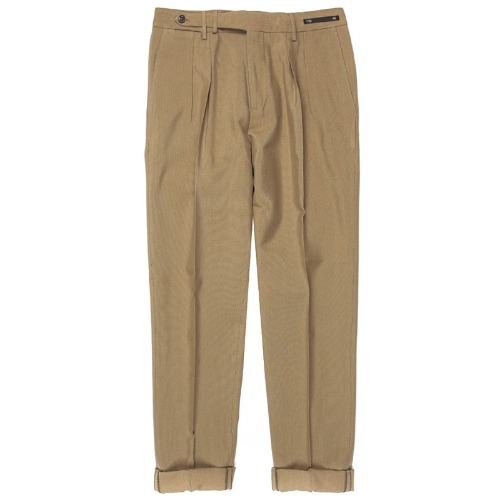 Carrot Fit. SuperFine Belt-up Pants(DarkBeige)