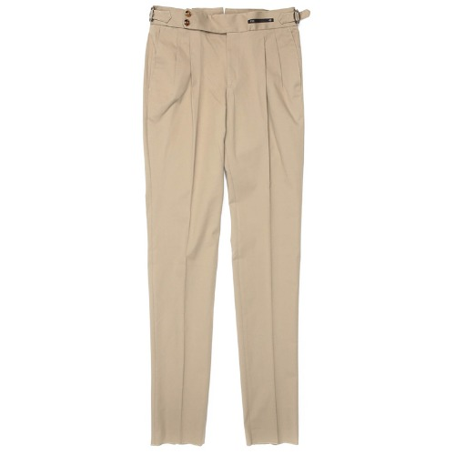 Gentleman Fit. SuperFine Two Pleats Pants(DarkBeige)