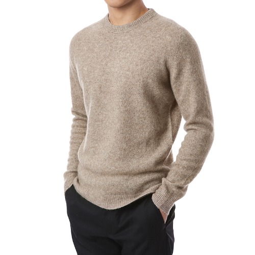 Cashmere Soft Round Knit (Oatmeal)