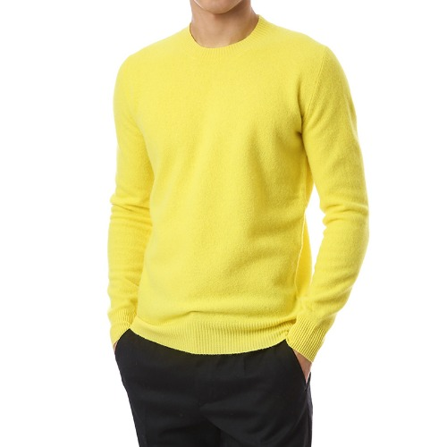 Merino Wool Soft Round Knit (Yellow)