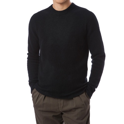 Cashmere Soft Round Knit (Black)