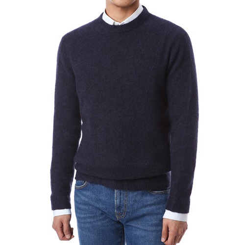 Cashmere Soft Round Knit (Navy)
