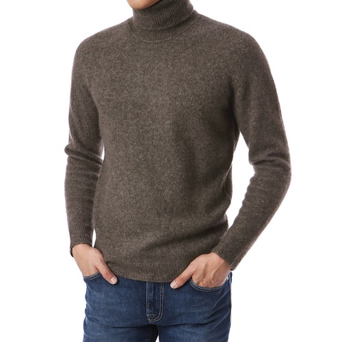 COZY. Classic Cashmere Turtleneck (Brown)