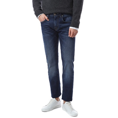Heritage. Comfort Washed Dark Blue Jeans