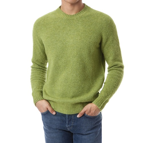 Mohair Soft Round Wool Knit (Yellow Green)
