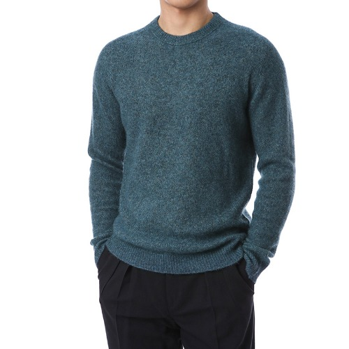 Cashmere Soft Round Knit (Bluegreen)