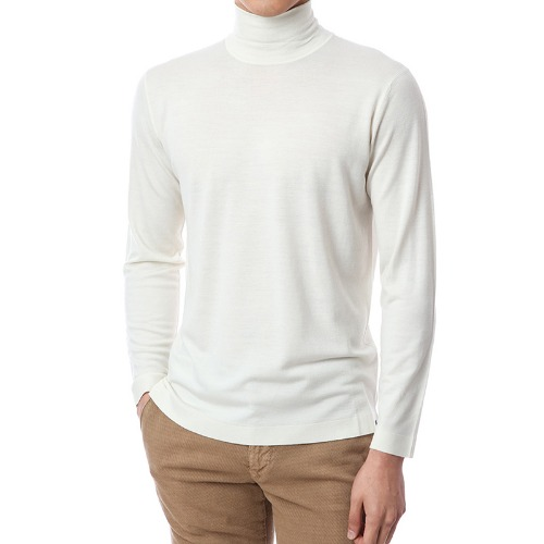 Basic.Silk Cashmere Soft Turtleneck (Ivory)