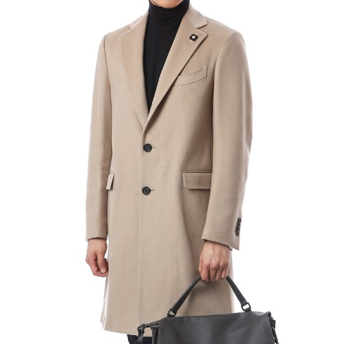 Cashmere Single Signature Beige Coat