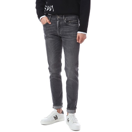 Classic Vintage Washed Core Denim Slim Fit(Grey)