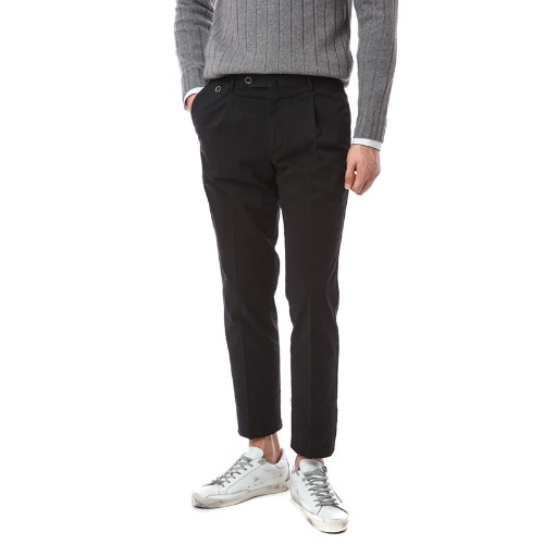 HEPCAT. Gentleman Fit. Flap Pocket Chino Pants (Black)