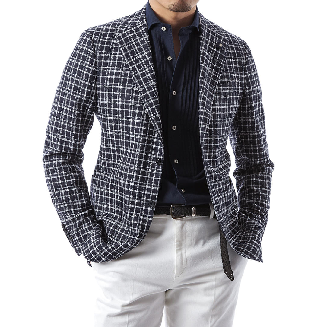 Boucle Window Pane Jacket