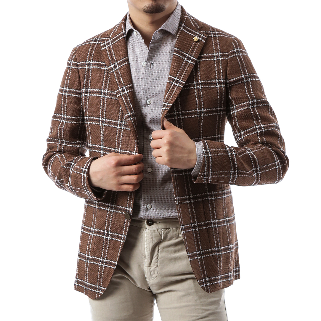 Brown Check Jacket
