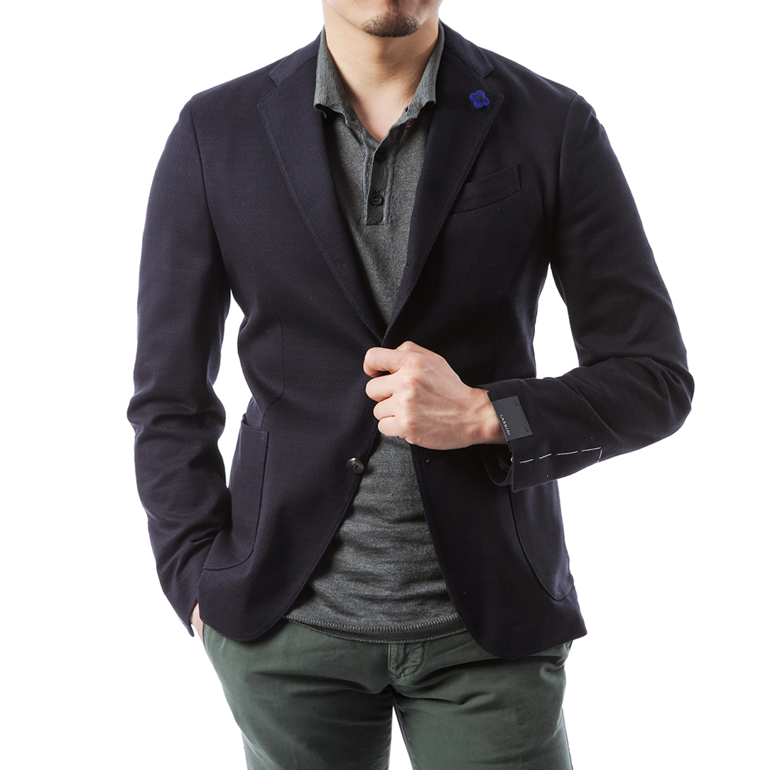 Formal Jersey Jacket (Navy)