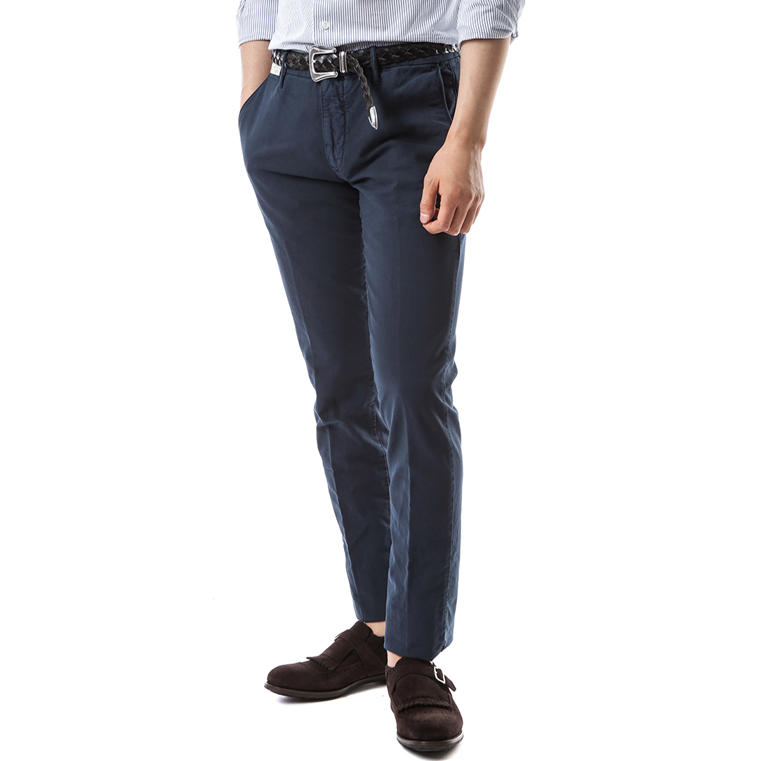RED Skin Fit Slacks (Navy)