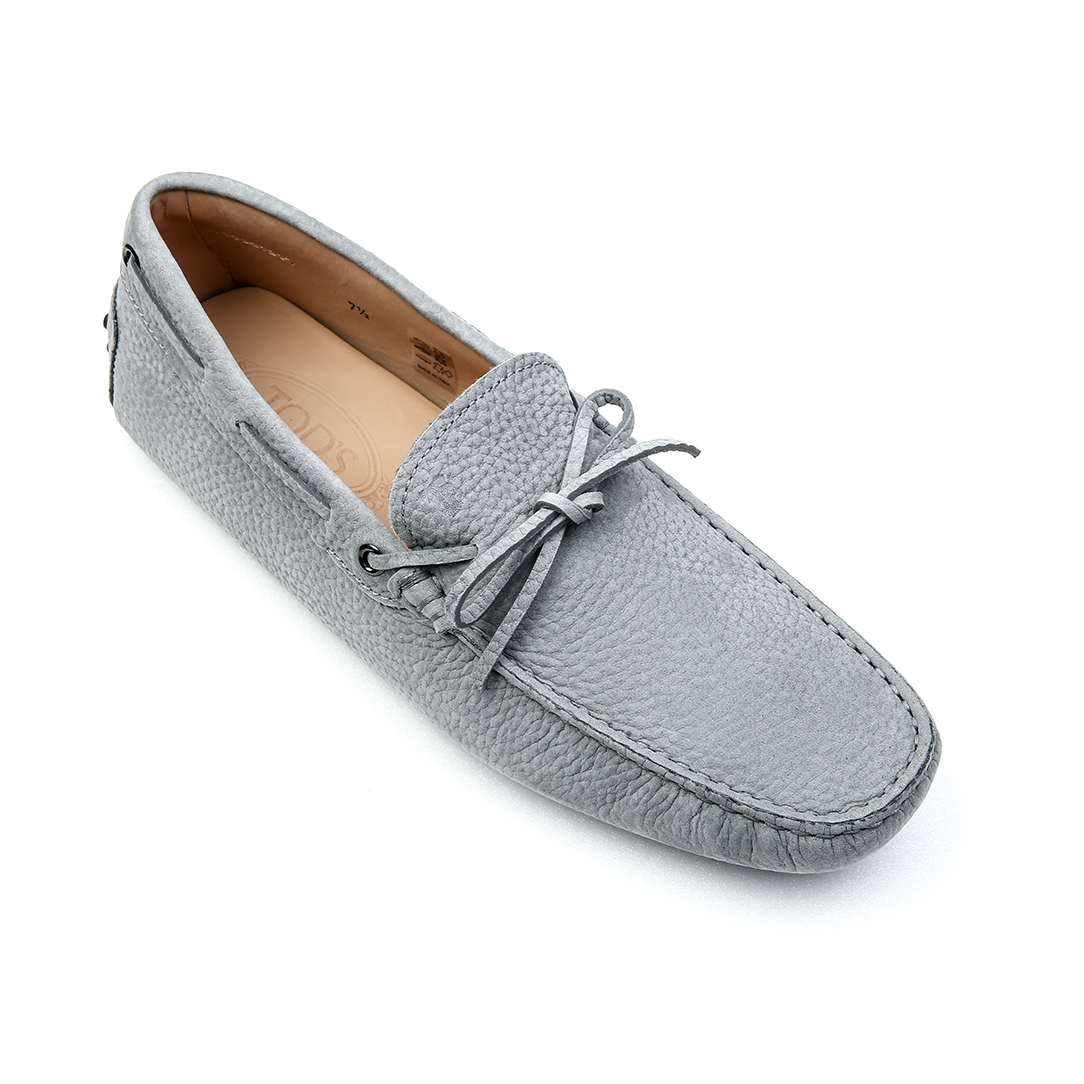 New Gommino Driving Shoes in Nubuck (Grayish Blue)