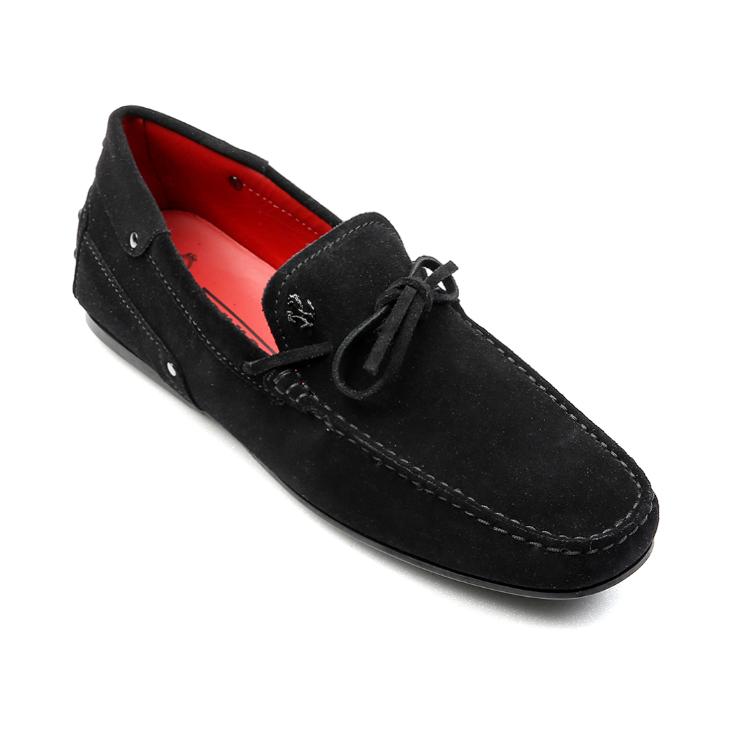 Tod's for Ferrari City New Gommino Driving Shoes in Suede (Black)