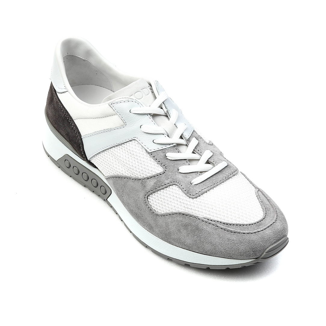 Sneakers in Suede Shoes(White, Gray)