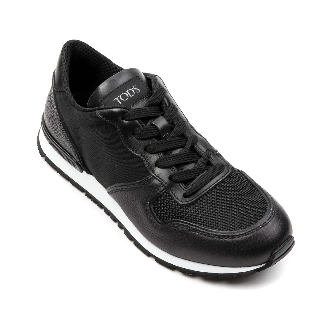 Sneakers in Leather Shoes(Black)